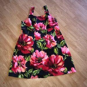 LANE BRYANT tropical print dress 18W
